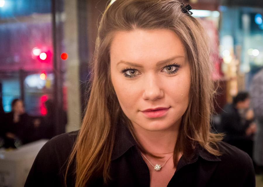 A waitress at my favorite bar