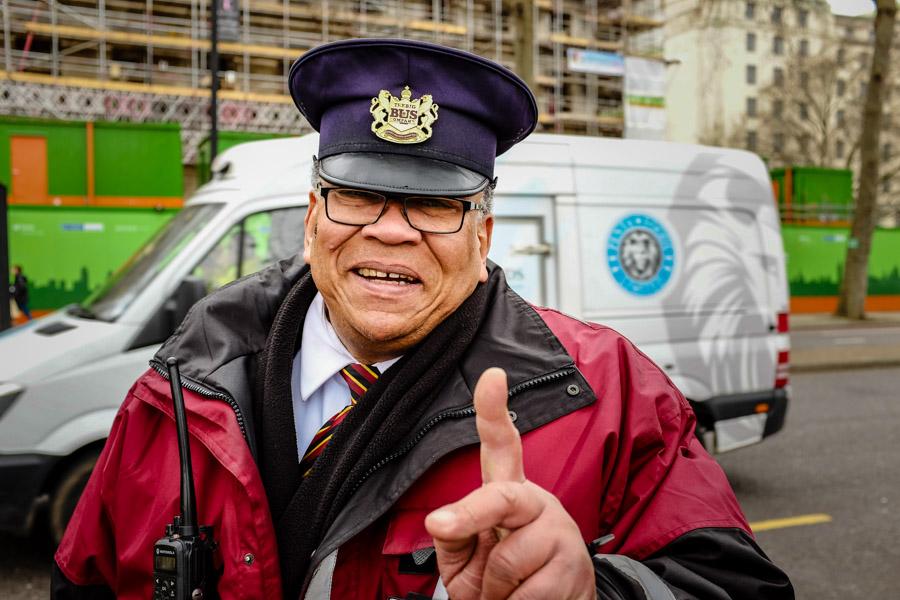 Street portrait taken in London