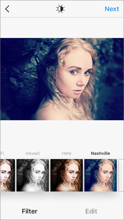 Nashville Instagram filter