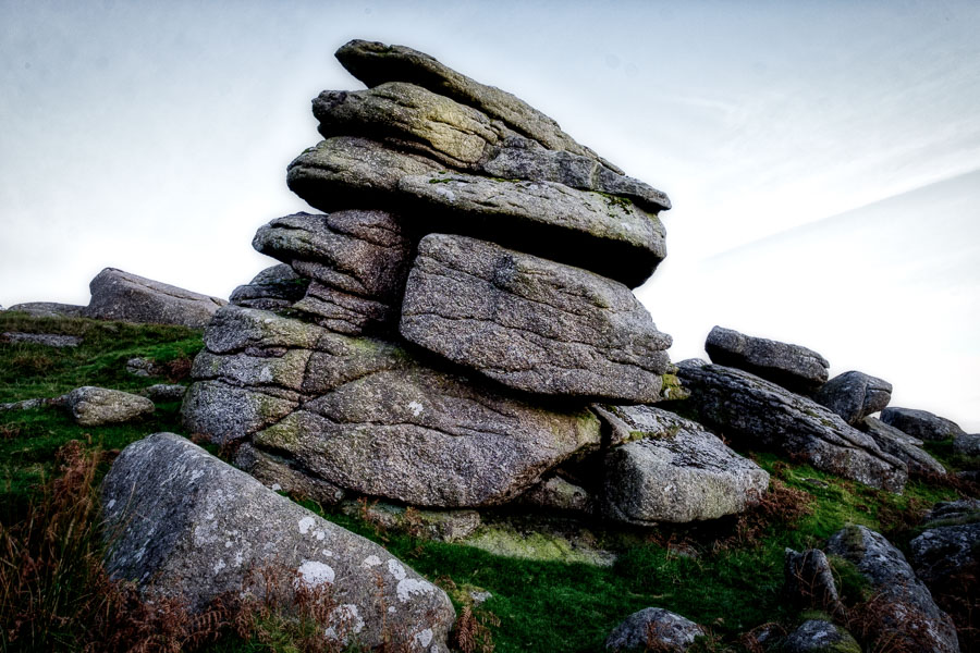 Landscape photo of Sheepstor, Dartmoor, processed in Luminar