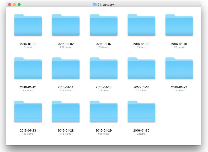 Folder structure for saving photos