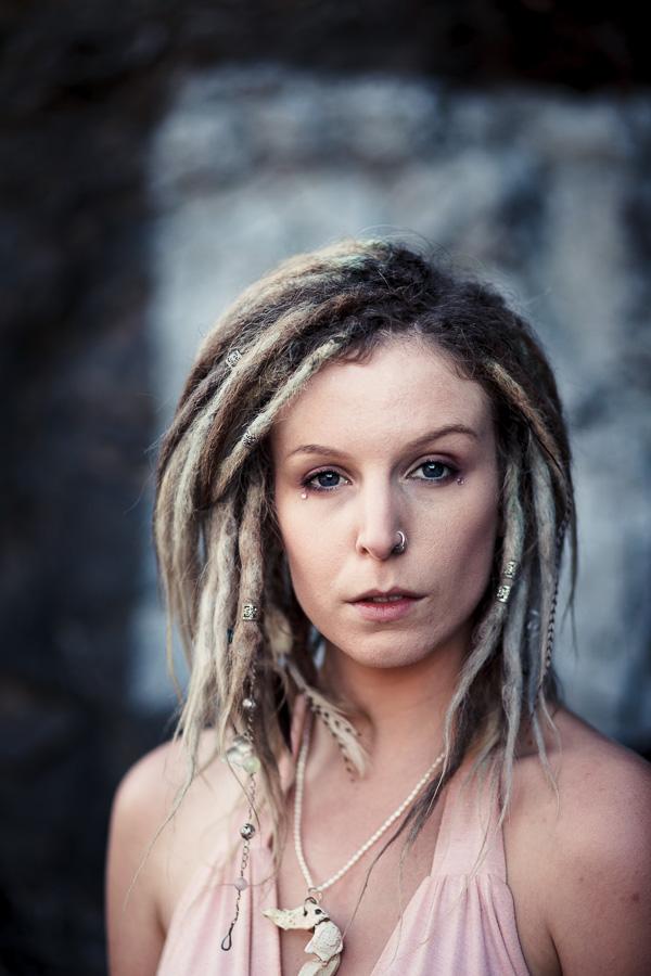Portrait of woman with dreadlocks