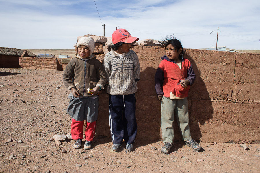 Street photo of children taken in Bolivia