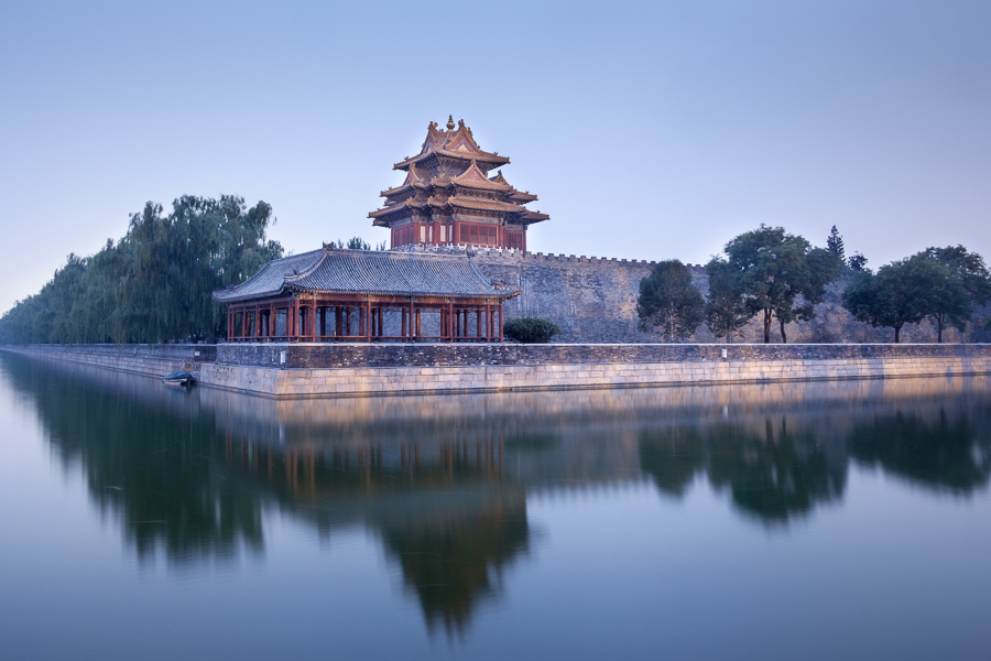 Photo of Forbidden City at dusk taken with Fujinon 18mm lens in Beijing China