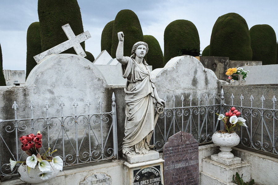 Statue in cemetery in Punta Arenas, Chile