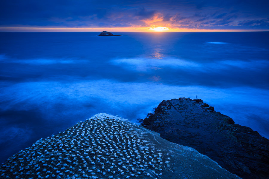 Landscape photo made at Muriwai, New Zealand using manual mode