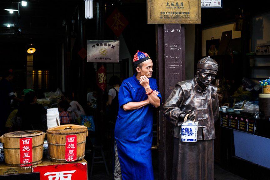 Candid portrait taken in Hangzhou, China