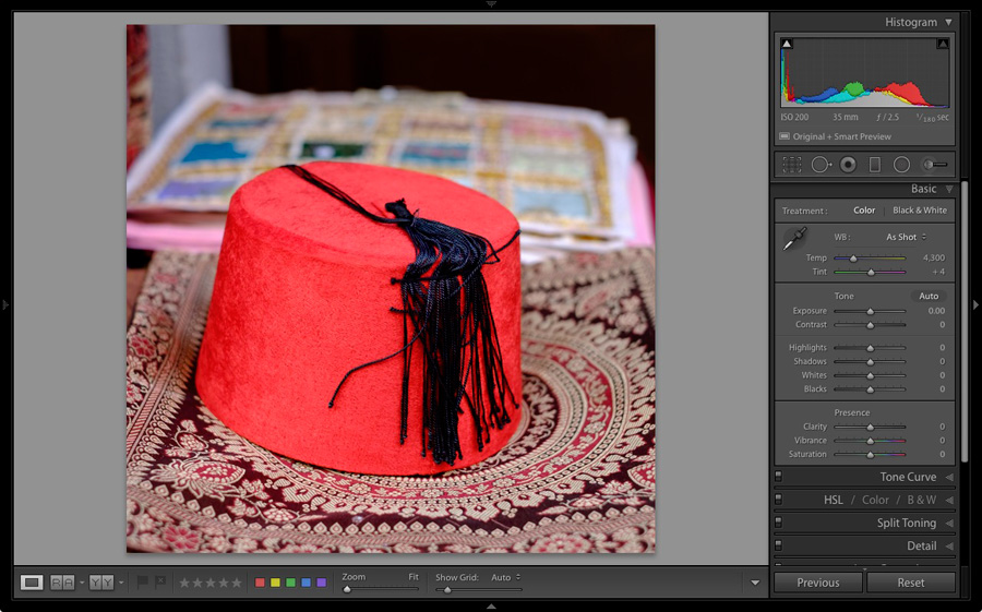 Loupe View in Lightroom Develop module