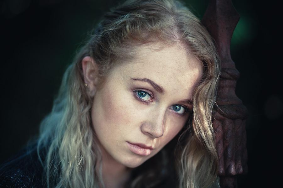 Color portrait of young woman