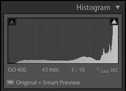 Diagram of a camera histogram