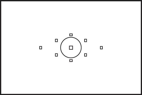Canon EOS 5D Mark II AF points diagram