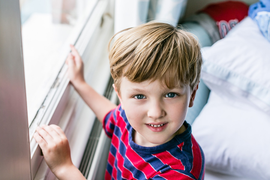 Natural light portrait of young boy