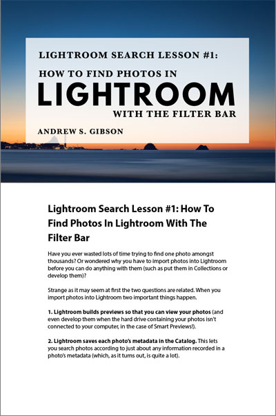 Lightroom Search Lesson 1