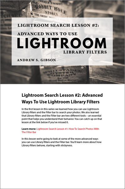 Lightroom Search Lesson 2