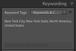 Hierarchical keywords Lightroom