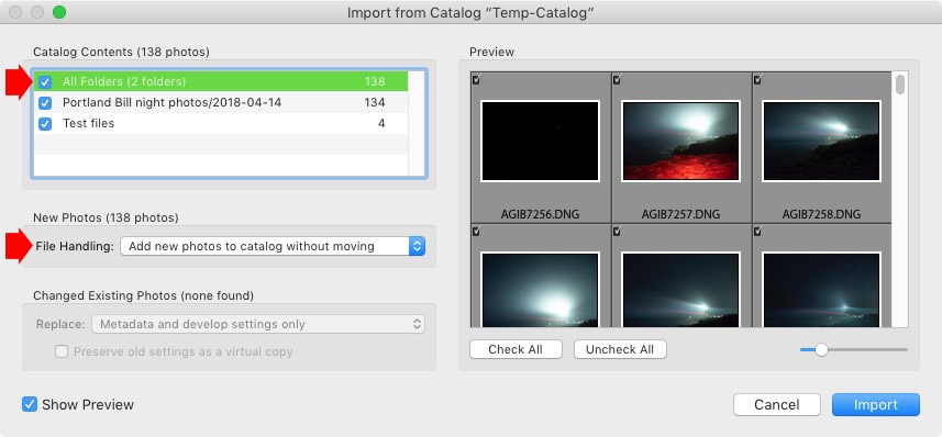 How to merge Catalogs in Lightroom