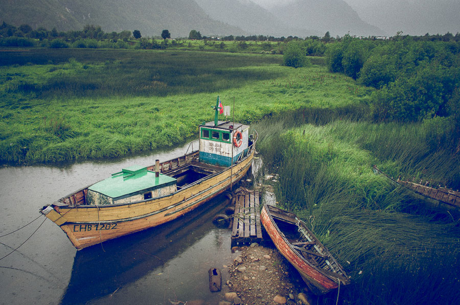 Color photo of boats