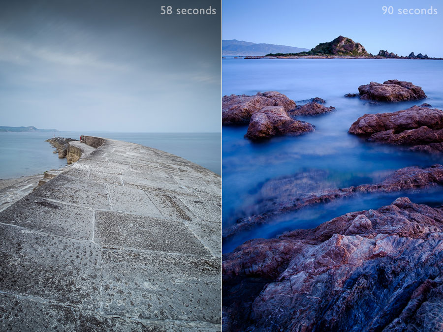 Landscape photos exposed with Bulb Mode