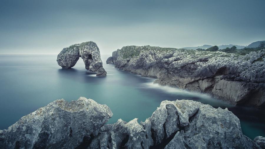 Long exposure landscape photo