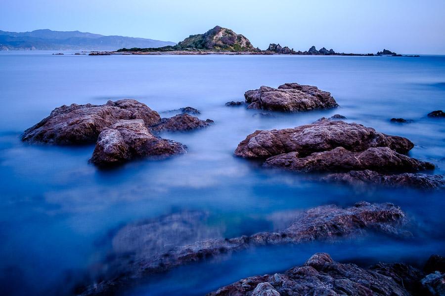 Landscape photo with island