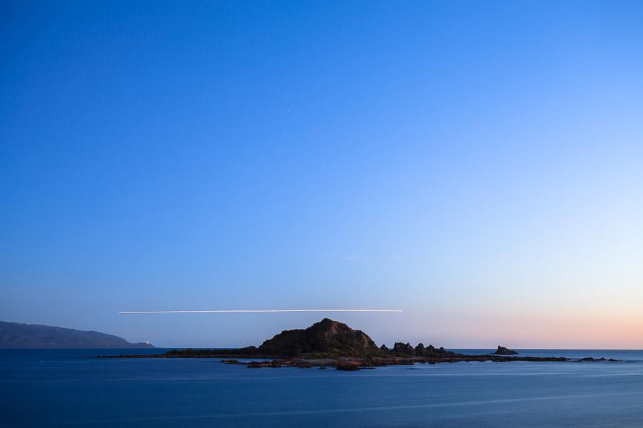 Landscape photo taken after sunset
