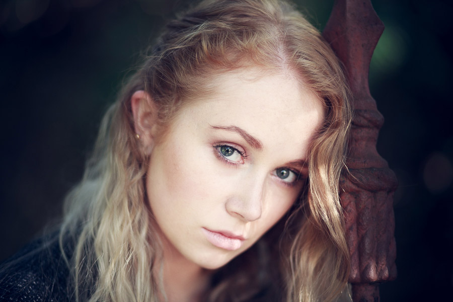 Portrait retouched in Lightroom