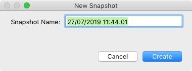 New Snapshot window