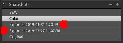 Snapshot on Export plugin