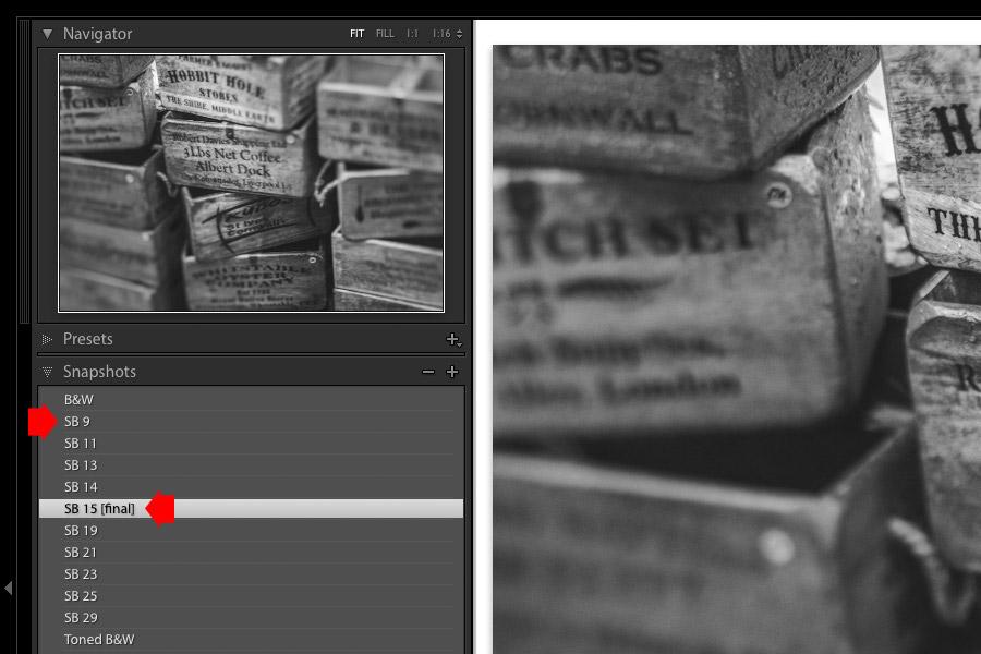 SuperBlack preset Snapshots