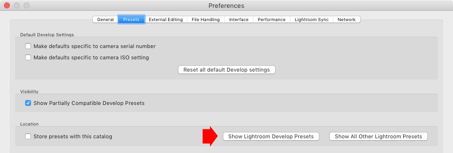Lightroom Classic preferences