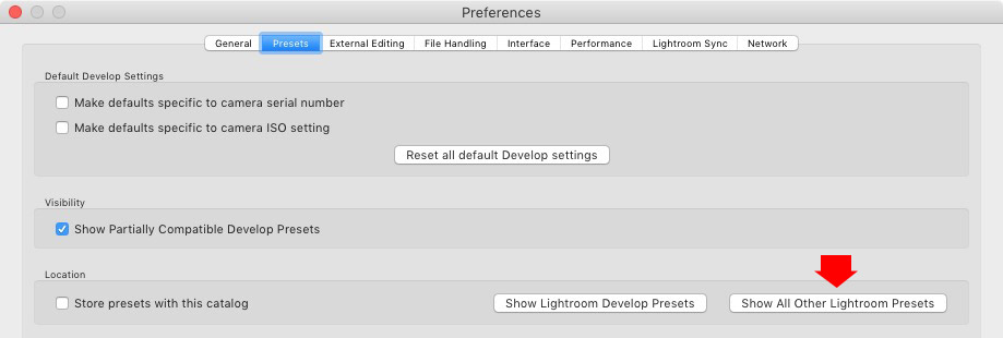 Lightroom Classic Develop Presets