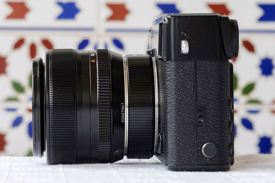 Fujifilm X-Pro 1 with 35mm lens and 16mm extension tube