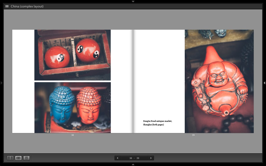 LIghtroom Classic book module layout