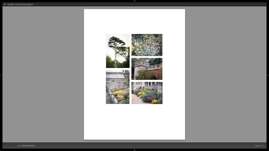 Lightroom Classic Print module layout