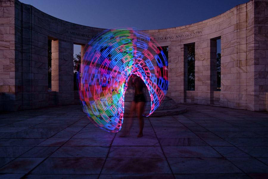 painting with light using futurehoop