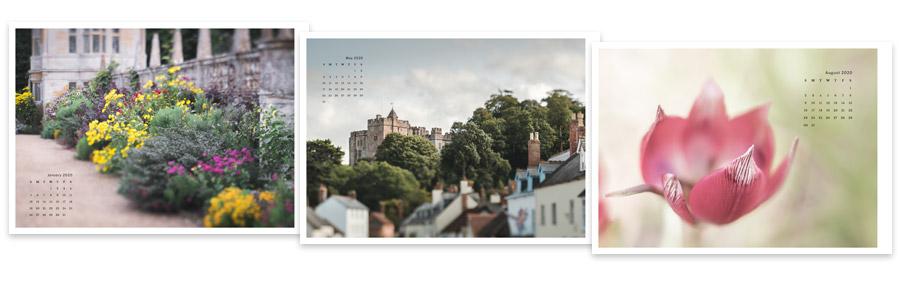 Lightroom Classic Print module calendar graphics