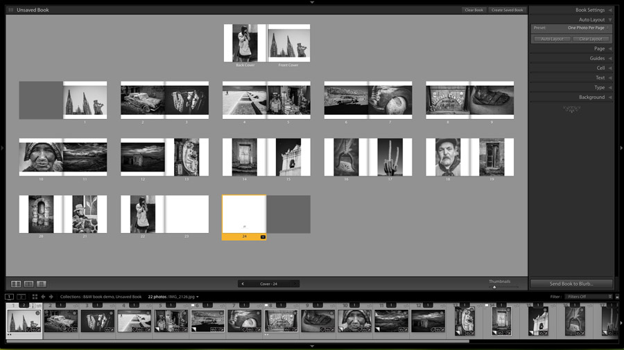 Photo book layout
