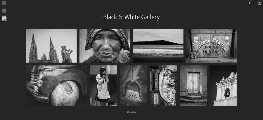 Lightroom for web gallery