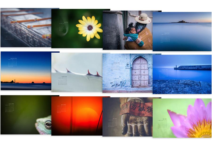 2020 calendar wallpapers