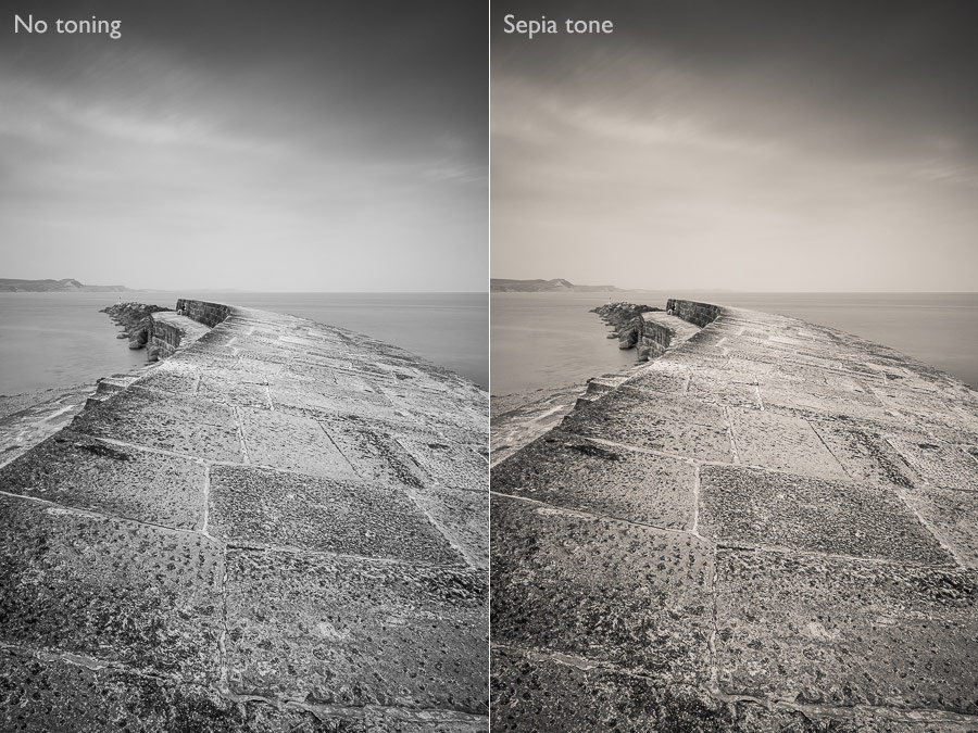 Toning black and white photos in Lightroom Classic