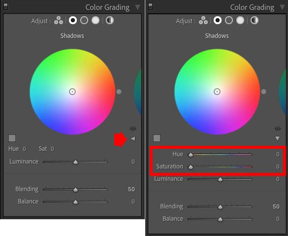 Color Grading panel Lightroom Classic